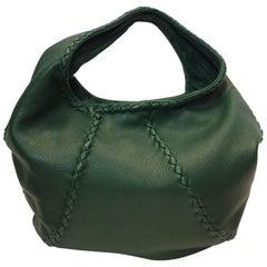Bottega Veneta Green Leather Hobo Bag