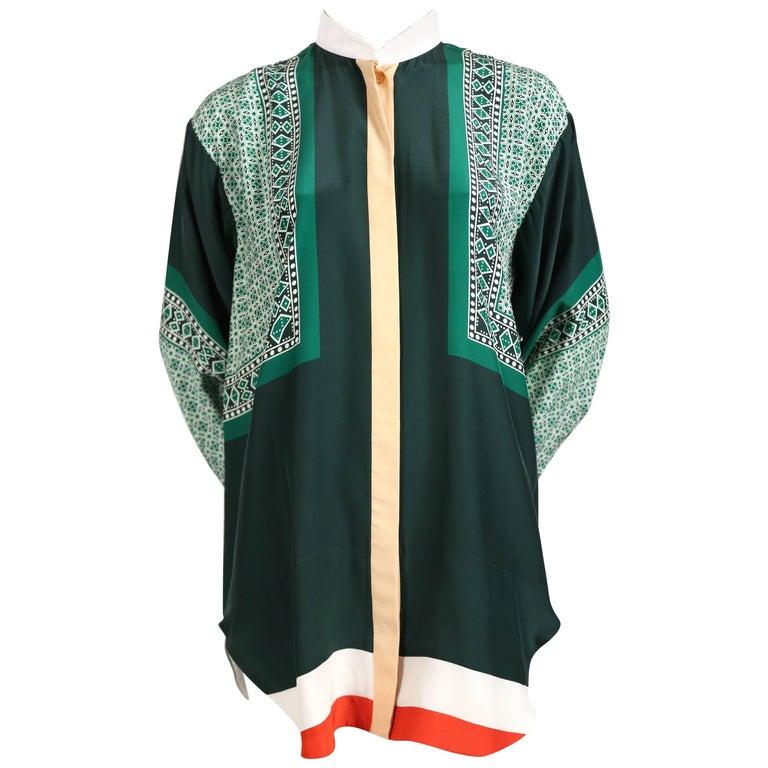636728a824d6 Celine by Phoebe Philo silk foulard runway shirt at 1stdibs