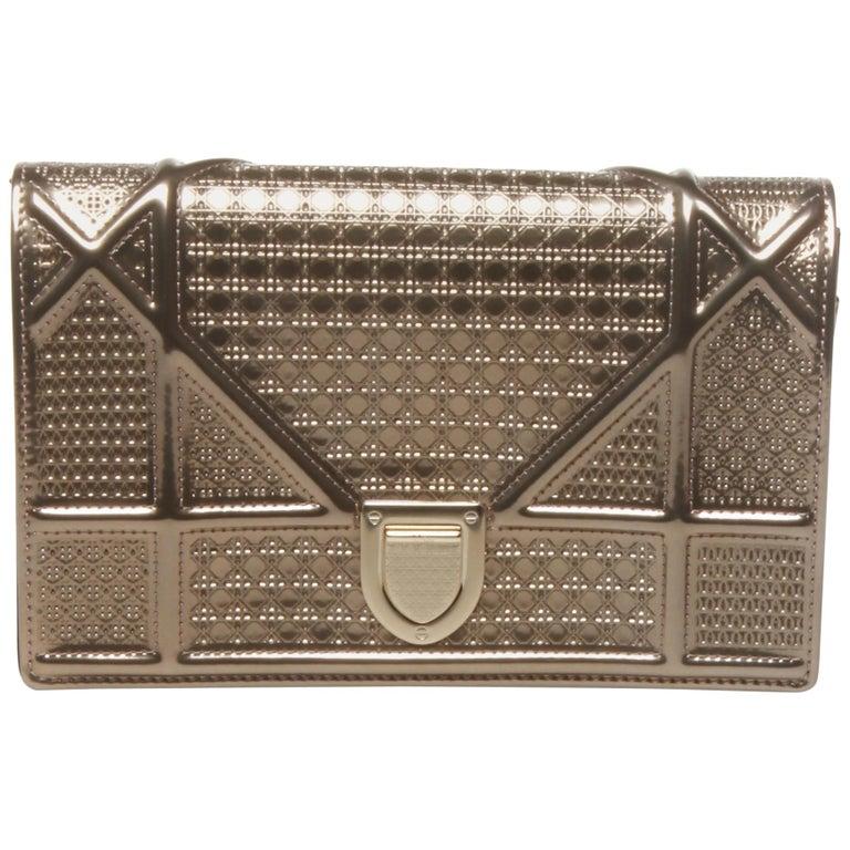 Christian Dior Silver/Gold Clutch