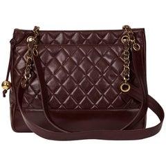 Chanel Plum Quilted Lambskin Vintage Timeless Shoulder Bag