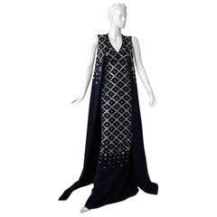 "Antonio Berardi Elegant Monastic Tabard Embellished ""Finale"" Gown  Red Carpet"