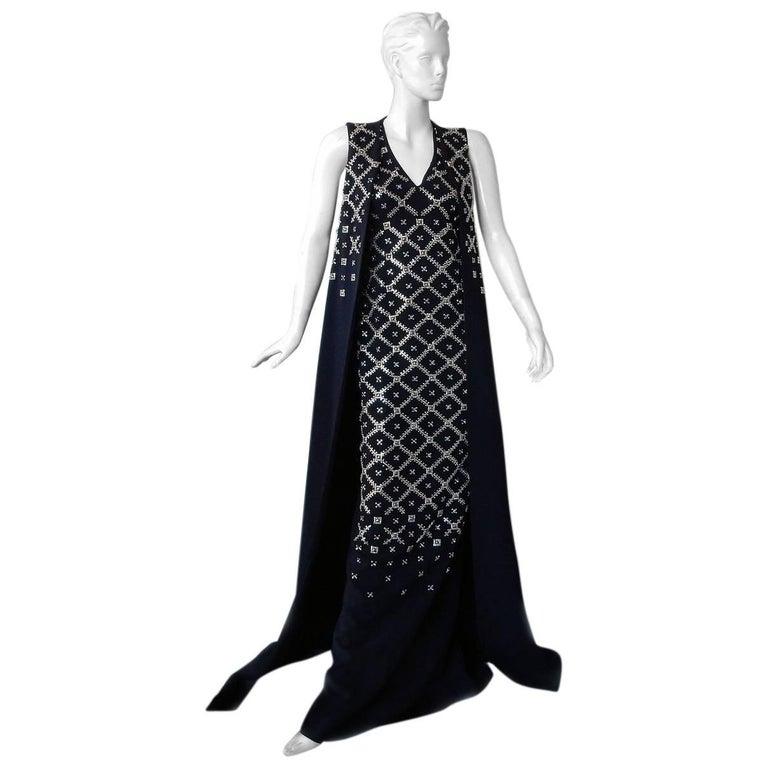 "Antonio Berardi Elegant Monastic Tabard Embellished ""Finale"" Gown  Red Carpet  For Sale"