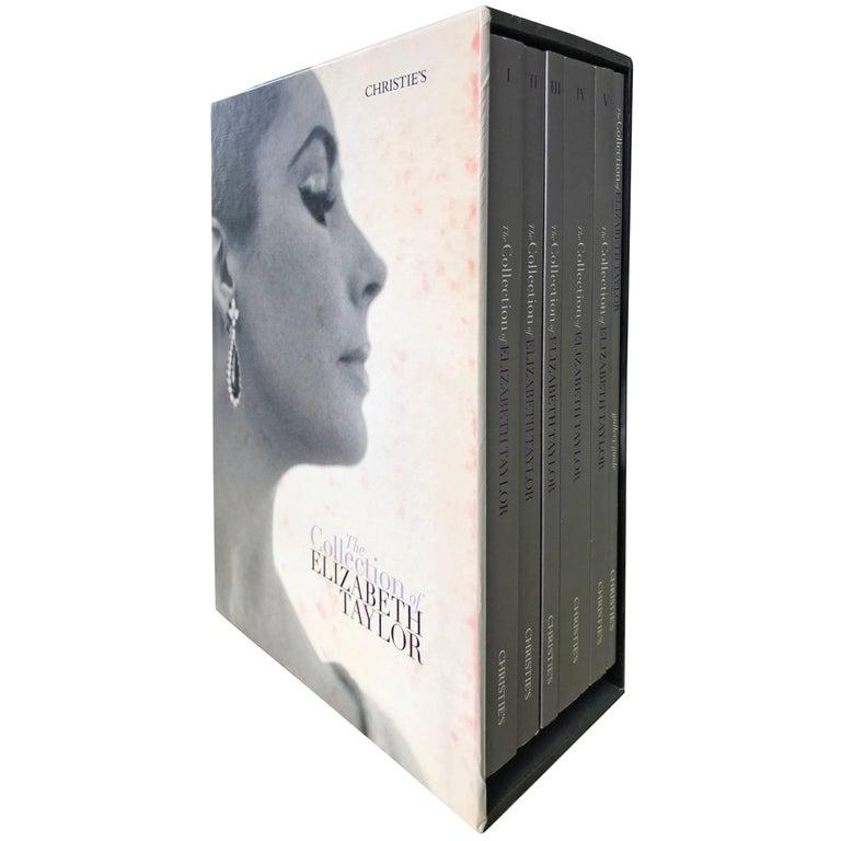 Elizabeth Taylor Christies Auction Catalogue Complete Six Book Box Set Pristine