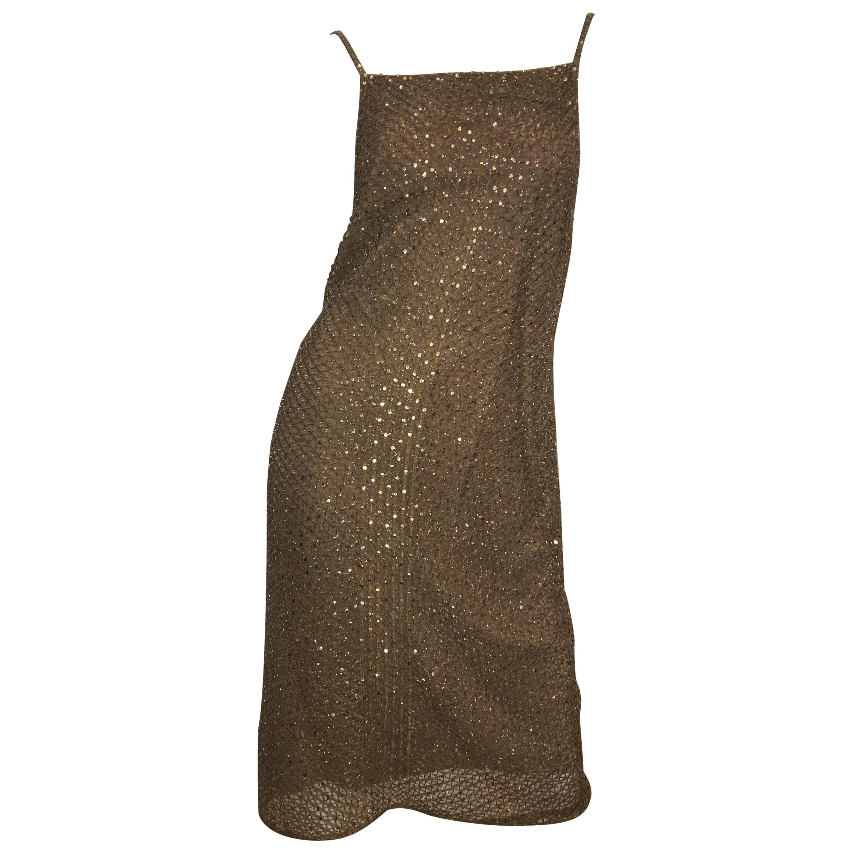 Ralph Lauren Gold Sequin Dress