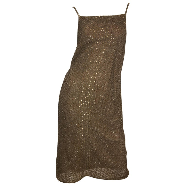 f8a9f622 Ralph Lauren Gold Sequin Dress at 1stdibs
