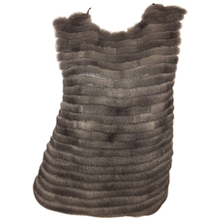 Vera Wang Collection Fur Top