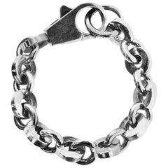 Hermes Sterling Silver Chain-Link Bracelet
