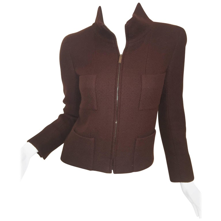 Chanel Cashmere Zip Sweater