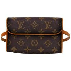 Louis Vuitton Monogram Pochette Florentine Belt Bag Waist Pouch Sz S
