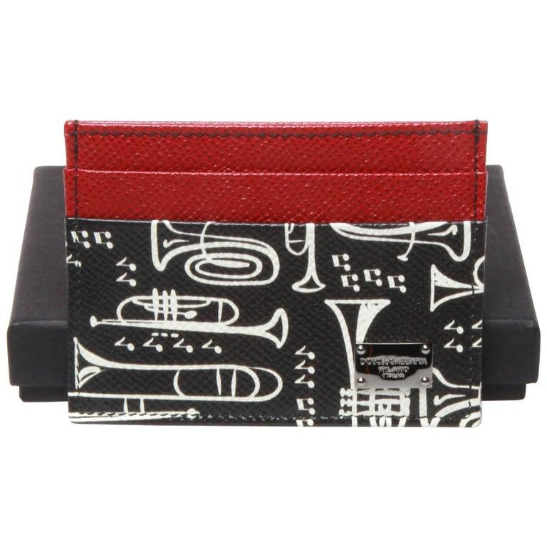 Dolce and Gabbana Musical Instrument Card Holder