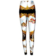 Rare Vintage Gianni Versace Native American Print Leggings Pants FW 1992-1993