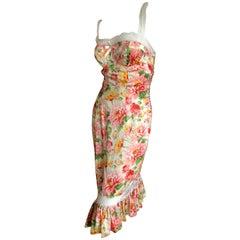 Christian Dior by John Galliano Garden Theme Dress with Sexy Lace Bra