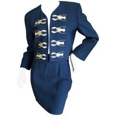 Moschino Couture Cruise me Baby Iconic 1980s Lobster Embroidered Mini Skirt Suit