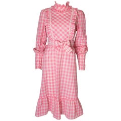 Vintage Susan Small Pink and White Dress