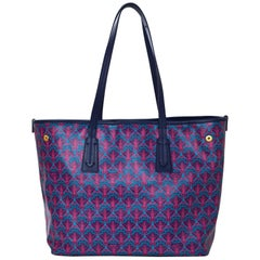Liberty London Pink & Blue Marlborough Iphis-Print Tote Bag with Dust Bag