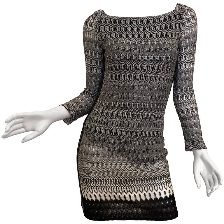 Missoni Black/White Knit Dress