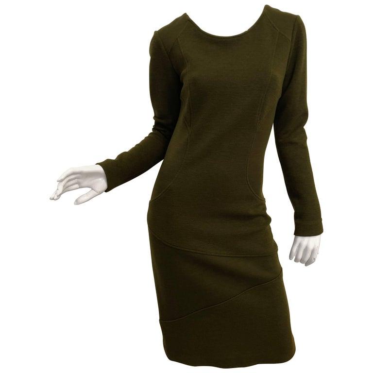 Luca Luca Olive Body-Con Dress