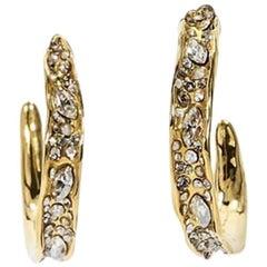 Gold Alexis Bittar Embellished Hoop Earrings