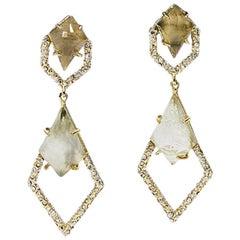 Gold Alexis Bittar Embellished Drop Earrings