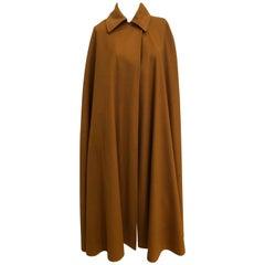 Saint Laurent Camel Floor Length Wool Cape