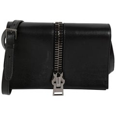 Tom Ford Black Leather Shoulder Flap Bag