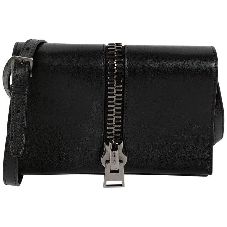 Tom Ford Black Leather Shoulder Flap Bag