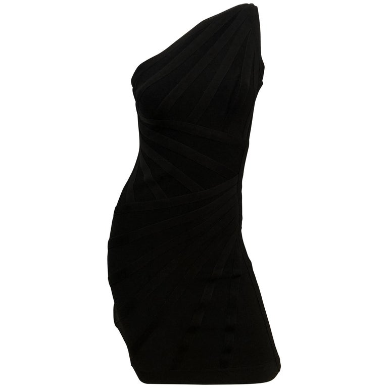 """Herve Leger """"Luz"""" One Shoulder Bandage Dress"""