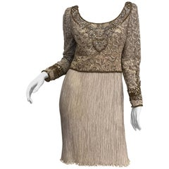 Mary Mcfadden Couture Beaded Dress