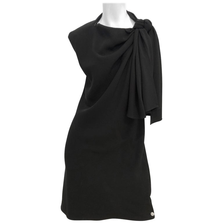 Jackie Rogers Sleeveless Neck Tie Detail Dress