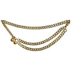 Chanel Vintage Goldtone Double-Chain Belt