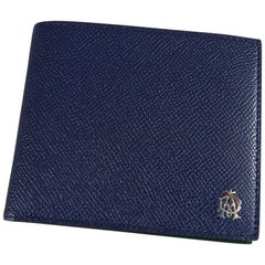 DUNHILL Blue and Green Bifold Leather Wallet