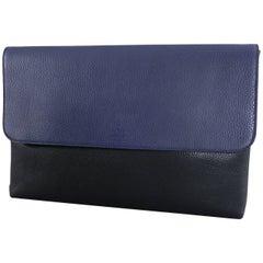 GUCCI Blue and Black Leather Laptop Computer Bag / Portfolio