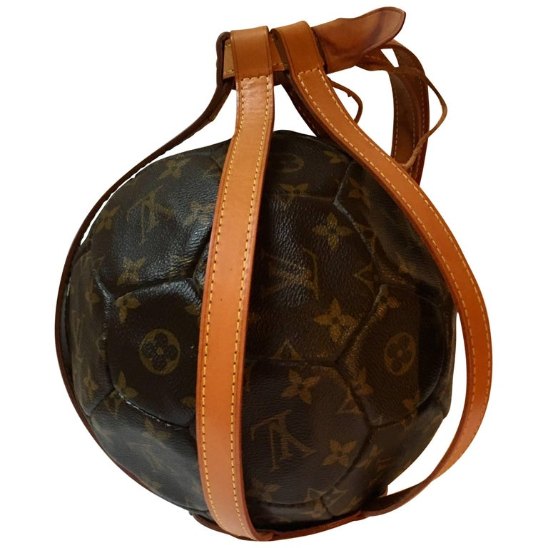 Louis Vuitton  rare Leather Soccer Ball, World Cup France 1998 Limited Edition