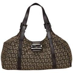 Fendi Brown Zucchino Piccola Shoulder Bag