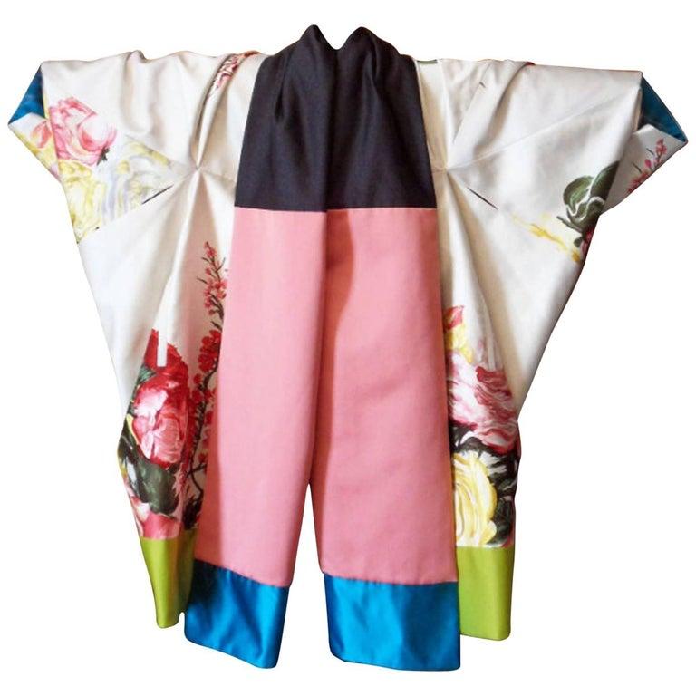 Haute couture ,Kenzo by antonio marras ,dress coat cape , kimono-inspired For Sale