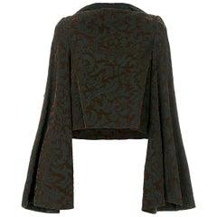 Fall 1996 Comme des Garçons flocked velvet top kimono