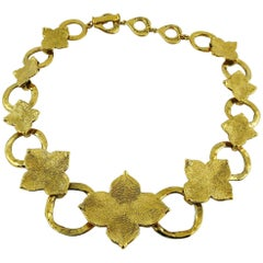 Yves Saint Laurent YSL Vintage Abstract Flower Necklace