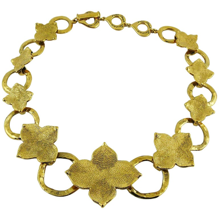 3b19deac770 Yves Saint Laurent YSL Vintage Abstract Flower Necklace For Sale at ...