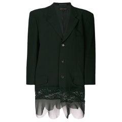 1993 Comme des Garcons lace detail tailored jacket