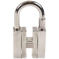 Hermes H Cadena Lock Charm- Silver Tone