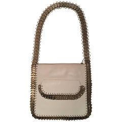 Paco Rabanne  Off White  leather medallions trim shoulder bag .