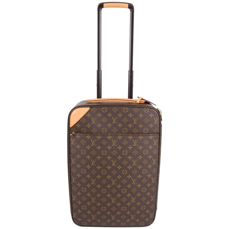 louis vuitton pegase legere monogram canvas trolley 50 dark brown at 1stdibs. Black Bedroom Furniture Sets. Home Design Ideas