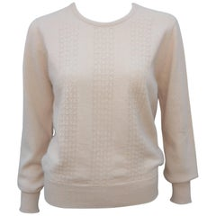 Jaeger Angora Wool Pointelle Sweater, 1970s