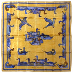 "Hermes ""La Mare aux Canards"" Silk Scarf by Daphne Duchesne"