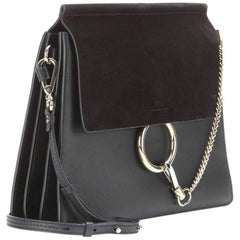 Chloe Faye Leather And Suede Shoulder Bag