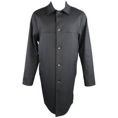 Men's LOUIS VUITTON Coat 40 Midnight Navy Coated Cotton Collared Car Jacket