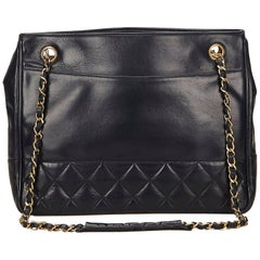 Chanel Black Matelasse Leather Tote Bag
