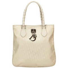 Dior White Oblique Lovely Tote Bag