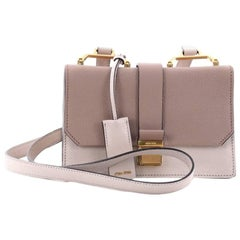 Miu Miu Bicolor Madras Shoulder Bag Leather Small