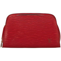 Louis Vuitton Red Epi Dauphine
